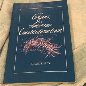 The Origins Of American Constitutionalism Book
